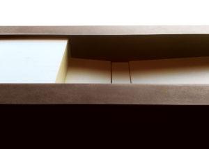 Top cm 250 H 25 realizzato in Kerlite Materica Bianco e Kerlite Corten