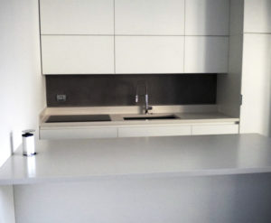 Top cucina e Top isola in Kerlite White