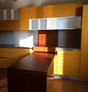 Top cucina e schienali in Graniti Fiandre HQ Resin Cinder