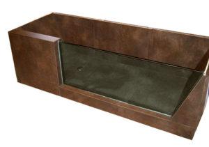 Vasca Bagno cm 190x90 realizzata con struttura Wedi, vetro temprato mm 19 e rivestimento in Gres mm 10